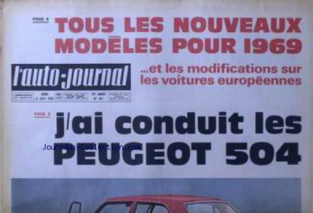 AUTO JOURNAL (L') no:461 12/09/1968
