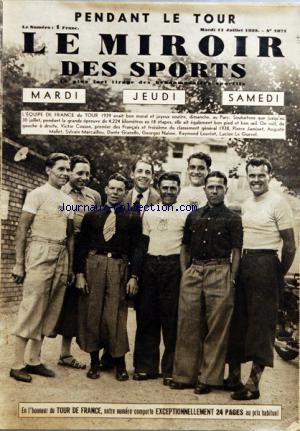 MIROIR DES SPORTS (LE) no:1071 11/07/1939