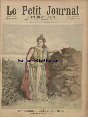 PETIT JOURNAL SUPPLEMENT ILLUSTRE (LE) no:113 21/01/1893