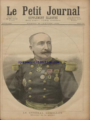 PETIT JOURNAL SUPPLEMENT ILLUSTRE (LE) no:114 28/01/1893