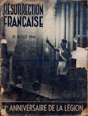 RESSURECTION FRANCAISE no: 31/08/1941
