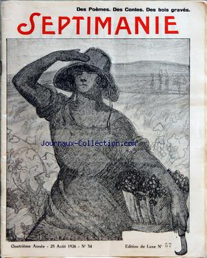 SEPTIMANIE no:34 25/08/1926