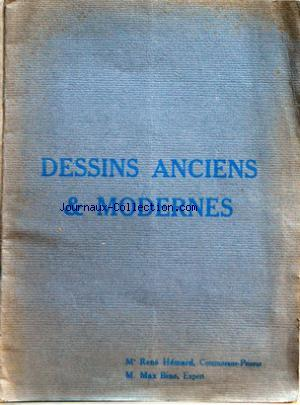 CATALOGUE DE VENTE DESSINS ANCIENS & MODERNES no: 04/03/1925