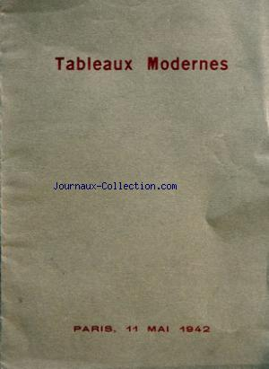 CATALOGUE DE VENTE TABLEAUX MODERNES no: 11/05/1942