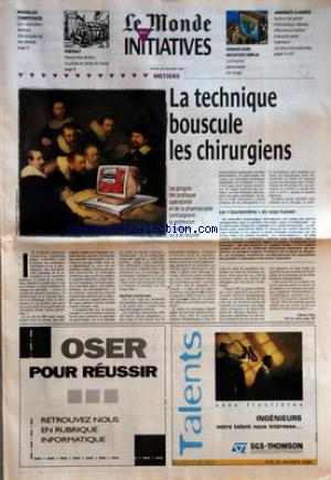 MONDE DES INITIATIVES (LE) no: 30/01/1996
