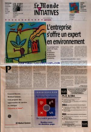 MONDE DES INITIATIVES (LE) no: 13/02/1996