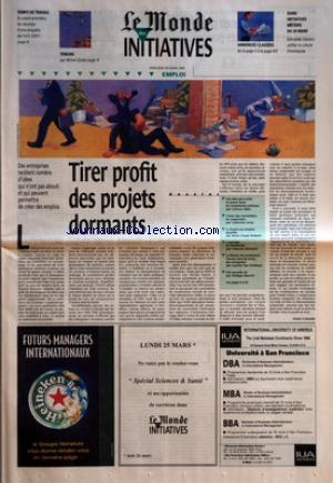 MONDE DES INITIATIVES (LE) no: 20/03/1996