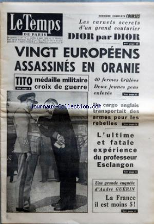 TEMPS DE PARIS (LE) no:17 08/05/1956
