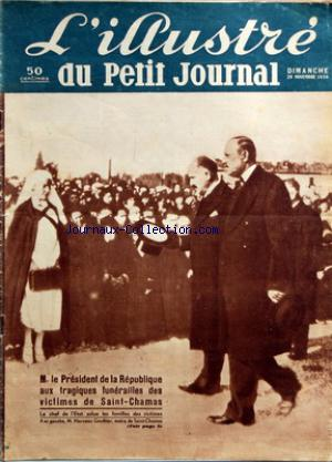 PETIT JOURNAL SUPPLEMENT ILLUSTRE (LE) no: 29/11/1936