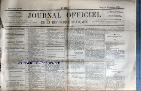 JOURNAL OFFICIEL DE LA REPUBIQUE FRANCAISE no:314 14/11/1870