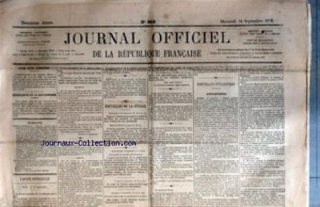 JOURNAL OFFICIEL DE LA REPUBIQUE FRANCAISE no:253 14/09/1870