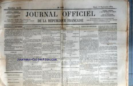 JOURNAL OFFICIEL DE LA REPUBIQUE FRANCAISE no:252 13/09/1870