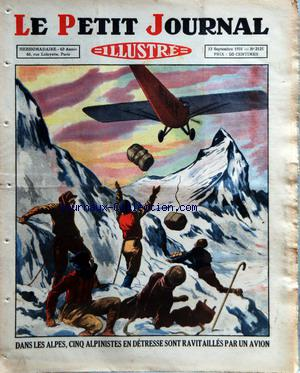 PETIT JOURNAL SUPPLEMENT ILLUSTRE (LE) no:2125 13/09/1931