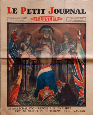 PETIT JOURNAL SUPPLEMENT ILLUSTRE (LE) no:1998 07/04/1929
