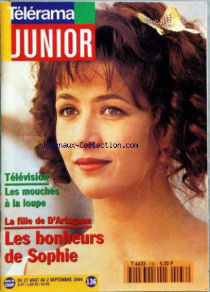 TELERAMA JUNIOR no:136 27/08/1994