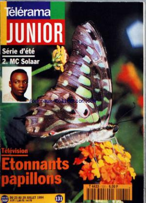 TELERAMA JUNIOR no:131 23/07/1994