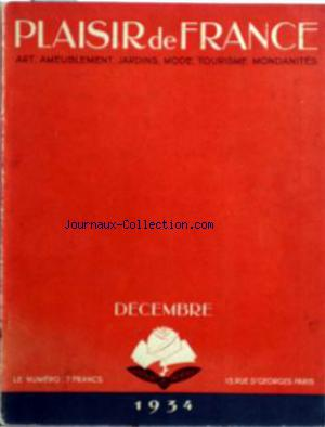 PLAISIR DE FRANCE no:3 01/12/1934