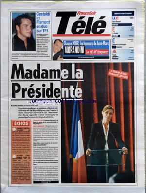 FRANCE SOIR TELE no: 25/09/2006