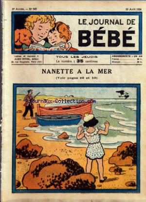 JOURNAL DE BEBE (LE) no:147 30/08/1934