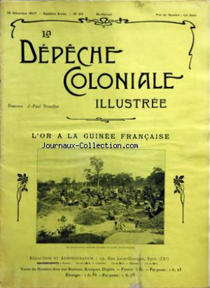 DEPECHE COLONIALE ILLUSTREE (LA) no:23 15/12/1907