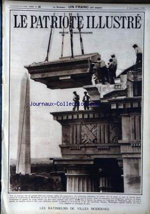 PATRIOTE ILLUSTRE (LE) no:36 03/09/1933