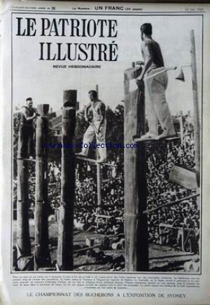 PATRIOTE ILLUSTRE (LE) no:26 25/06/1933