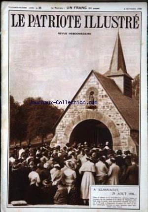 PATRIOTE ILLUSTRE (LE) no:36 06/09/1936