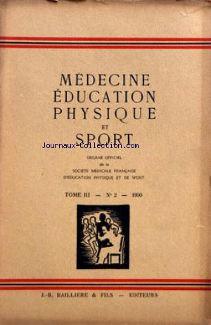 MEDECINE EDUCATION PHYSIQUE ET SPORTS no:2