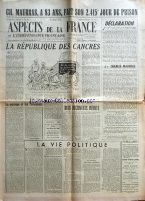 ASPECTS DE LA FRANCE no:135 20/04/1951