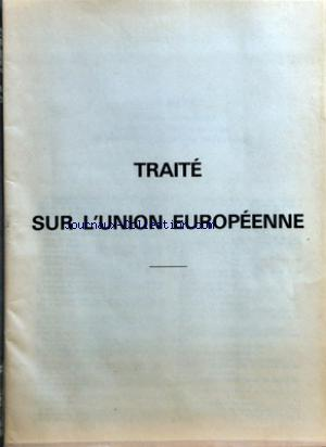 TRAITE SUR L'UNION EUROPEENNE no: