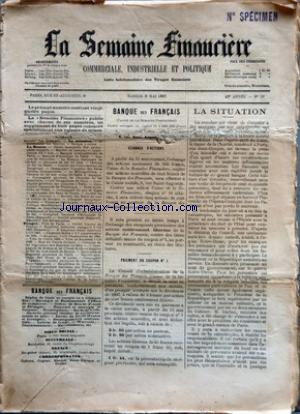 SEMAINE FINANCIERE (LA) no:19 08/05/1897