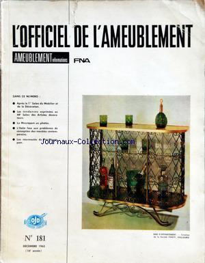 OFFICIEL DE L'AMEUBLEMENT (L') no:181 01/12/1965