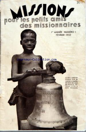 MISSIONS no:1 01/02/1933