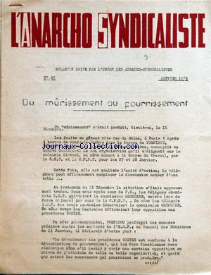 ANARCHO SYNDICALISTE (L') no:45 01/01/1965