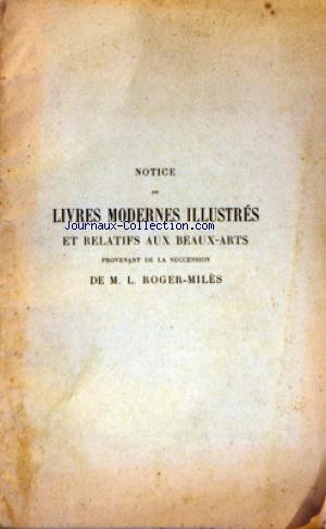 NOTICE DE LIVRES MODERNES ILLUSTRES no: