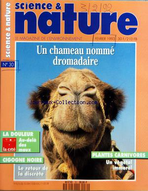 SCIENCES ET NATURE no:30 03/02/1992
