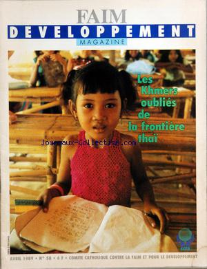 FAIM DEVELOPPEMENT MAGAZINE no:58 01/04/1989