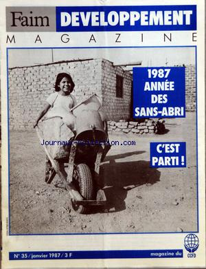 FAIM DEVELOPPEMENT MAGAZINE no:35 01/01/1987