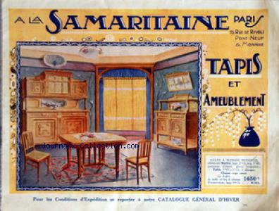 CATALOGUE DE LA SAMARITAINE no: