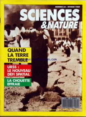SCIENCES ET NATURE no:64 01/02/1989