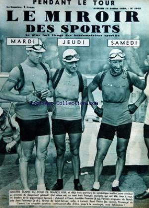 MIROIR DES SPORTS (LE) no:1073 15/07/1939