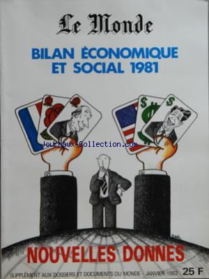 MONDE SUPPLEMENT AUX DOSSIERS ET DOCUMENTS (LE) no:BIS 01/01/1982
