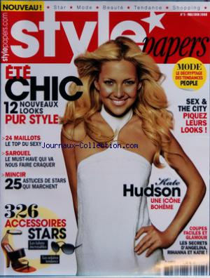 STYLE PAPERS no:5 01/05/2008