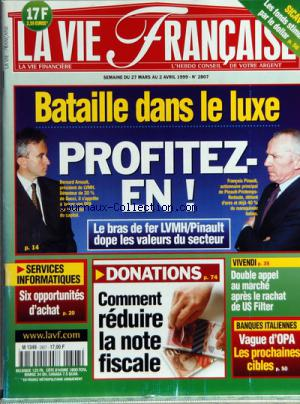 VIE FINANCIERE (LA) no:2807 27/03/1999