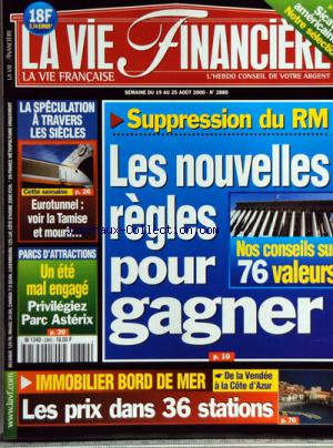 VIE FINANCIERE (LA) no:2880 19/08/2000