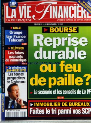 VIE FINANCIERE (LA) no:2914 14/04/2001