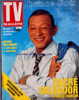 TV MAGAZINE FRANCE SOIR no: 09/11/1991