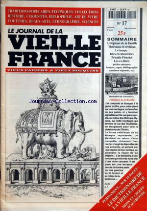 JOURNAL DE LA VIEILLE FRANCE (LE) no:17 01/03/1997