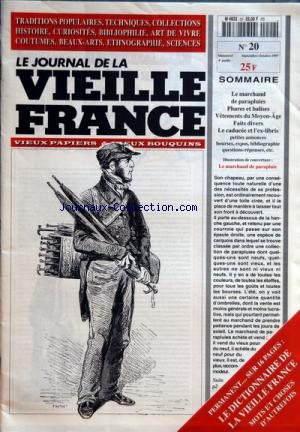 JOURNAL DE LA VIEILLE FRANCE (LE) no:20 01/09/1997