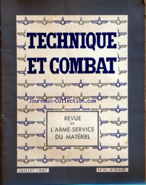 TECHNIQUE ET COMBAT no:34 01/07/1947